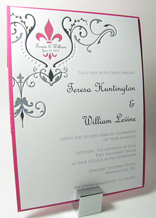 Luxury Fleur De Lis Wedding Invitations 84 With Additional Online
