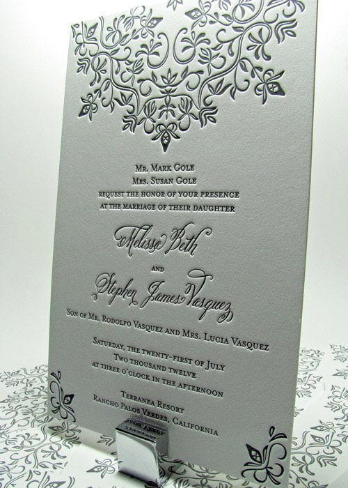 French Country Wedding Invitations In Peach Chic Blush Pink