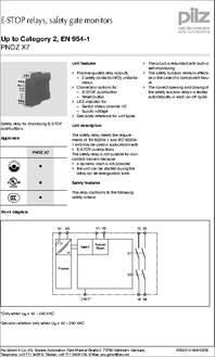 PNOZ X7 774053 datasheet  Specifications: Coil Voltage VAC Nom: 110V ; Coil Voltage