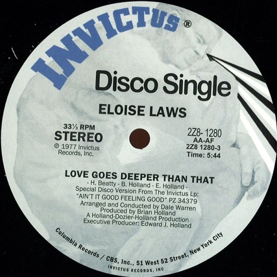 Eloise Laws - Love Goes Deeper Than That