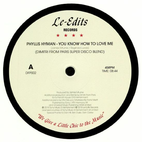 Phyllis Hyman - You Know How To Love Me (Dimitri From Paris Super Disco Blend)