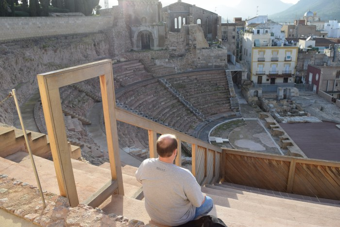Koep catching a show at the Roman Theatre
