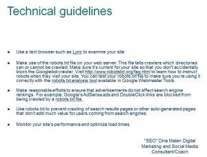 SEO Technical Guidelines