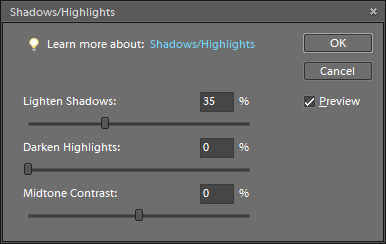 Shadow/Highlight box