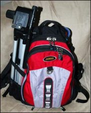 Backpack and tripod