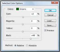 Selective coloroptions