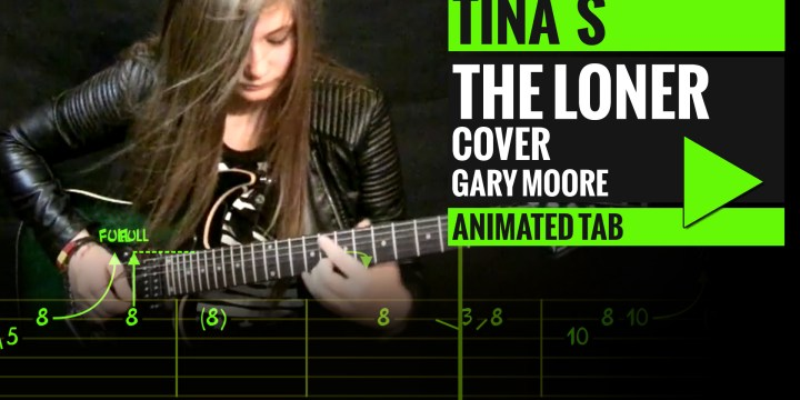 GARY MOORE – THE LONER – Animated Tab