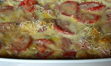 Hähnchen-Zucchini-Gratin