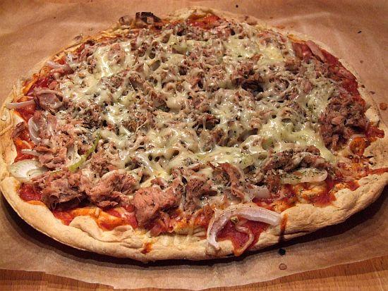 Arabische Pizza für Faule (mit Fladenbrot als Boden)