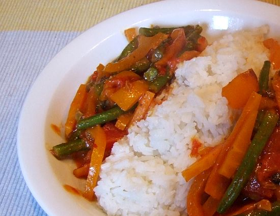 "Foto Vegetarisches rotes ""Thai""-Curry"