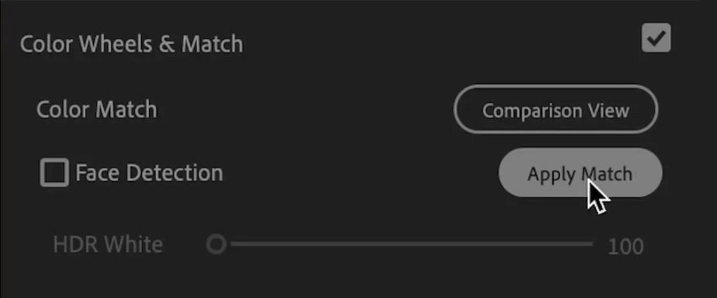 Apply Match Lumetri Colour Premiere Pro