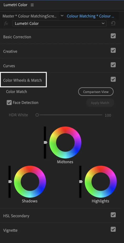 Colour Matching in Premiere Pro with Lumetri Colour -