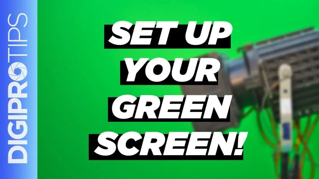 Set up a greenscreen properly