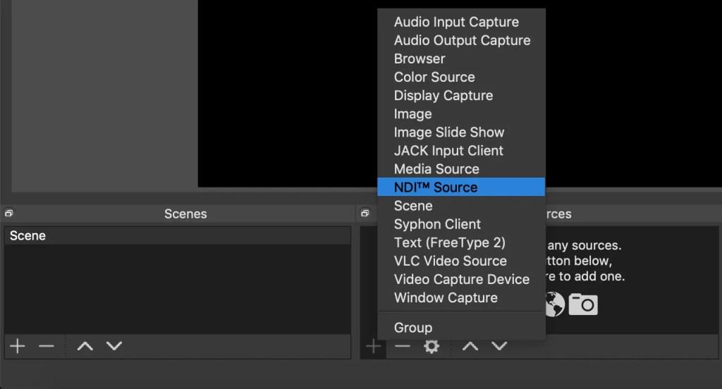 OBS NDI Source Select