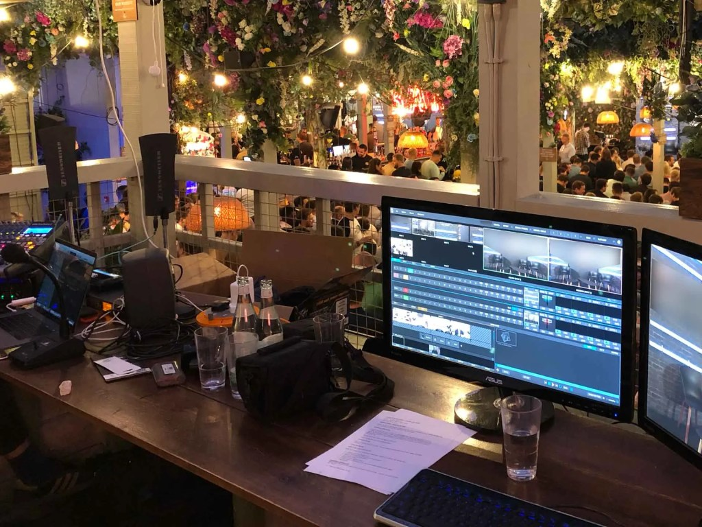 Tricaster Switcher being used for live streaming