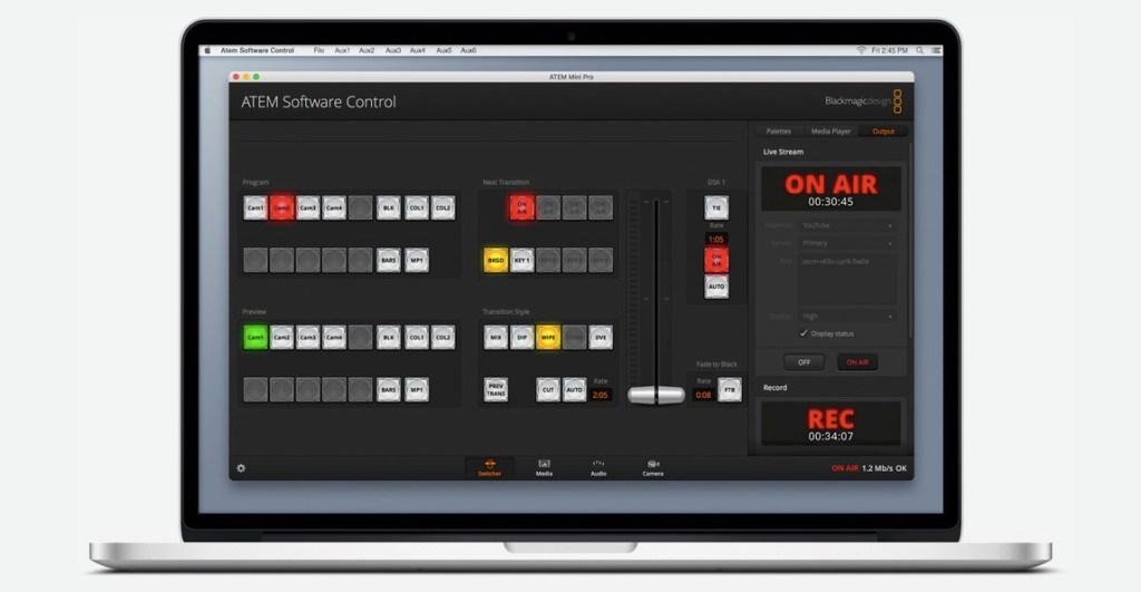ATEM Control Software - Blackmagic video switcher