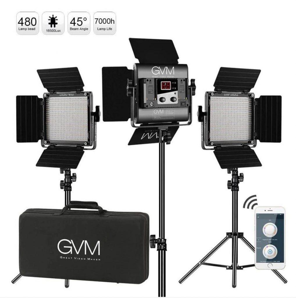 equipment needed for youtube - GVM Bi-Color LED Light Kit