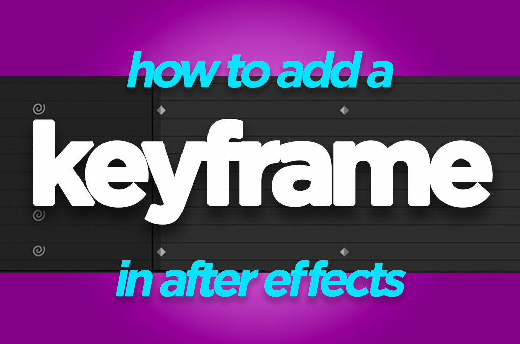 how to add keyframe in after effects