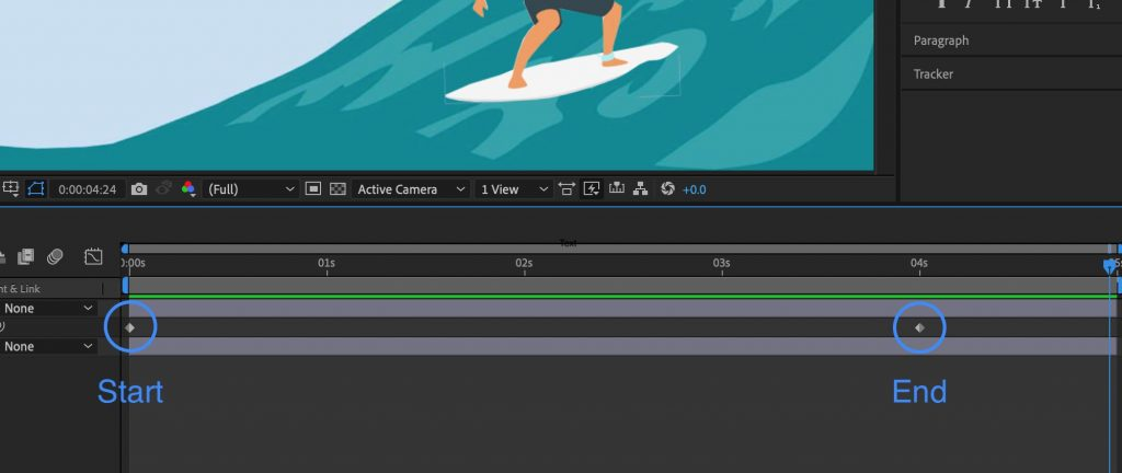 How to add keyframes in After Effects - start and end keyframes