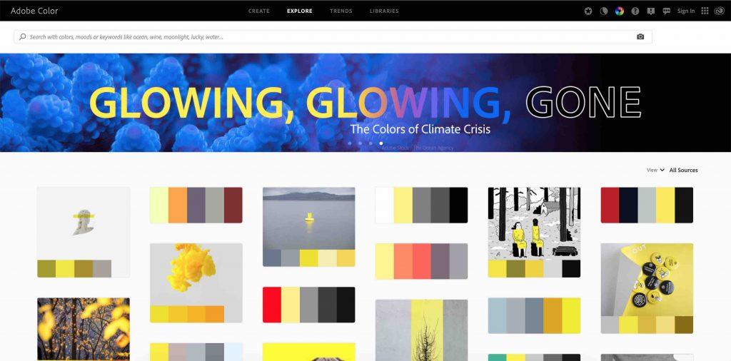Explore Adobe Color Wesbite