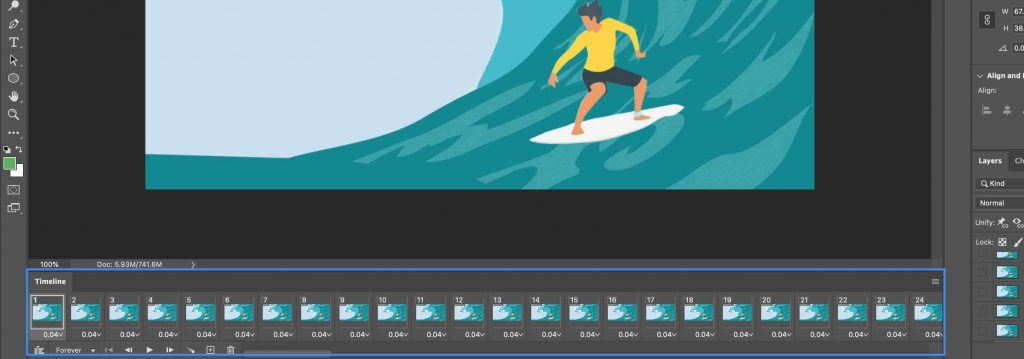 Photoshop Timeline - After Effects Export GIF