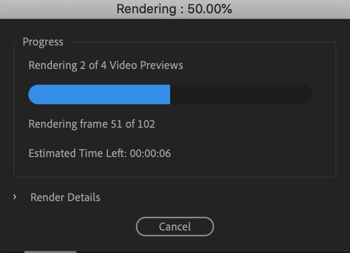 Rendering Video in Premiere Pro - how to