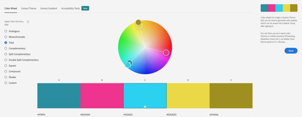 Triad Color Harmony Rule Adobe Color