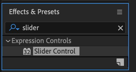 Slider control effect - Wiggle Expression After Effects