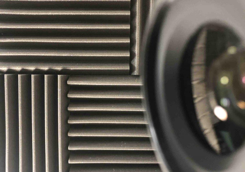Video studio sound reducing panels