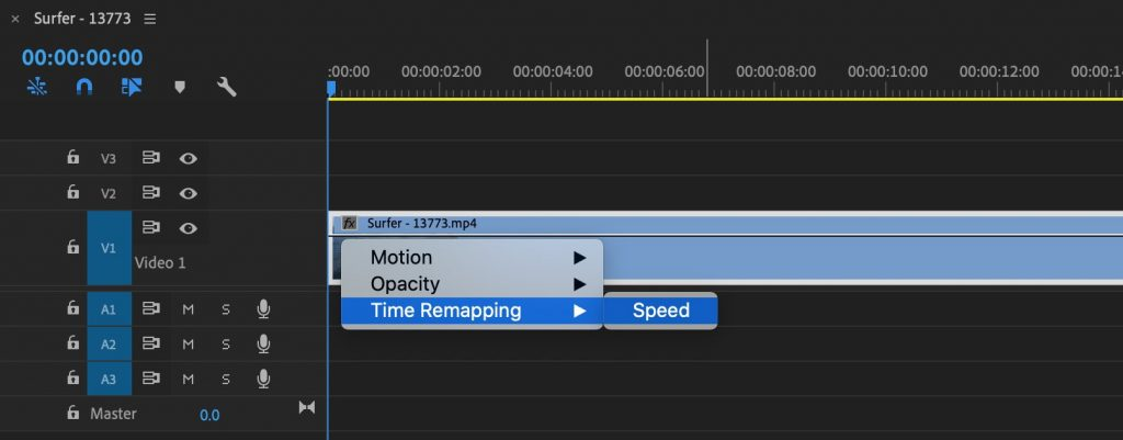 Premiere Pro Time Remapping Speed