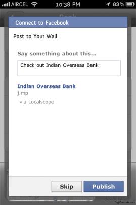 Local Scope Facebook Integration