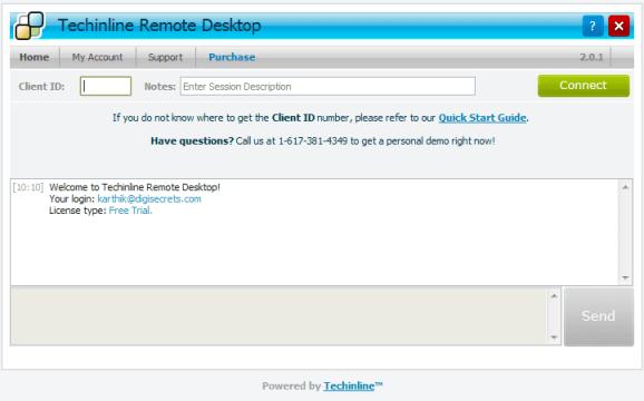 Techinline Remote Desktop  - Client ID
