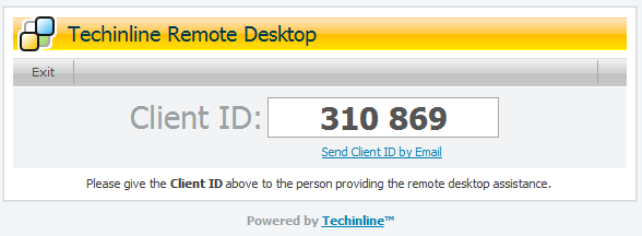 Techinline Remote Desktop Client ID