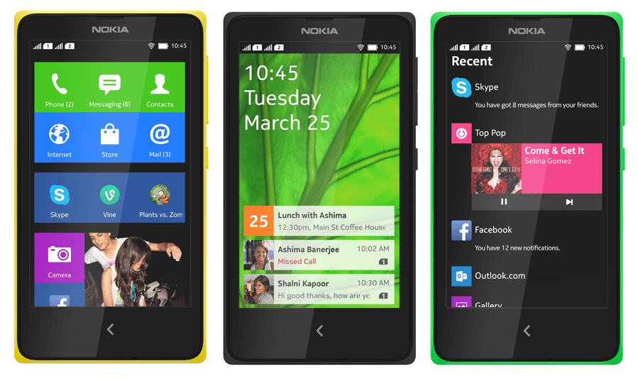 Nokia's Android Smartphone - Nokia X, Nokia X+, Nokia XL