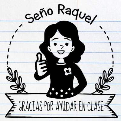Sello maestra Raquel