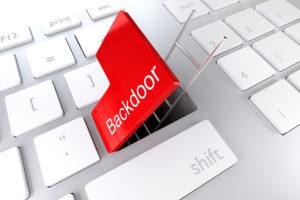 Software backdoor