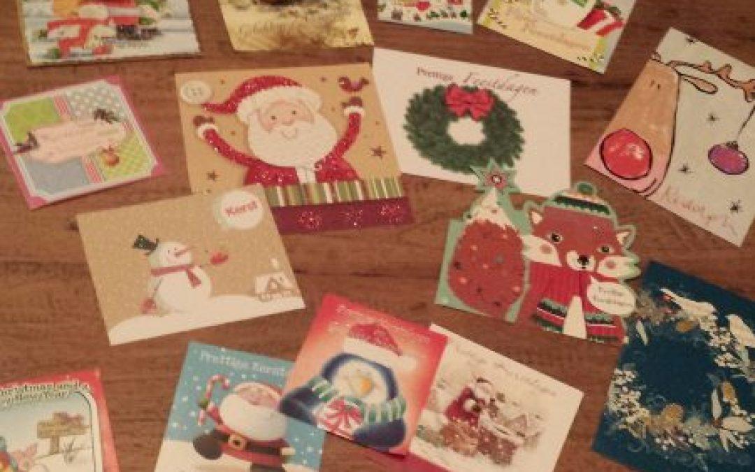 Creatief met kerstkaarten!