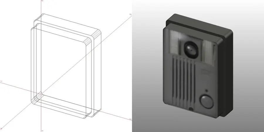 formZ 3D エクステリア ドアフォン