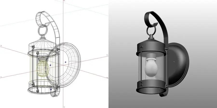 formZ 3D エクステリア 照明器具 ポーチライト