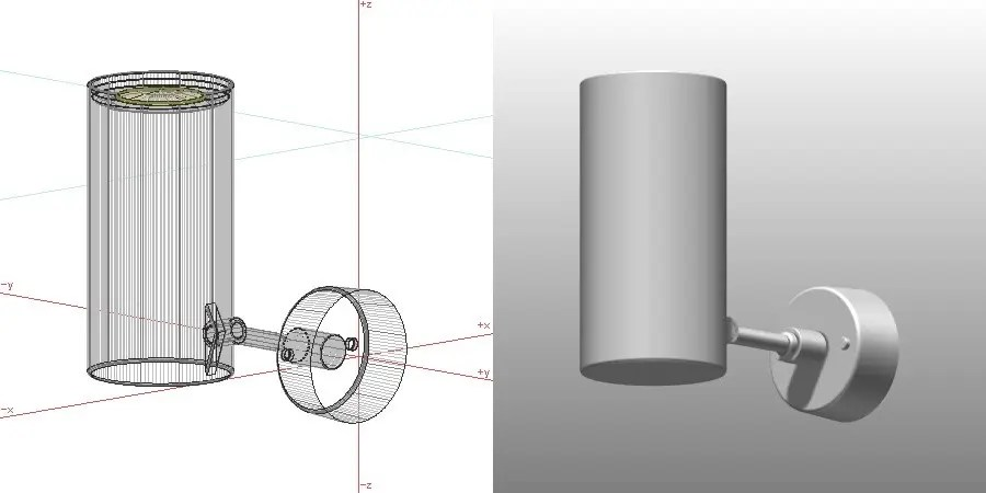 formZ 3D インテリア 照明器具 lighting equipment スポットライト spotlight 直付け LED