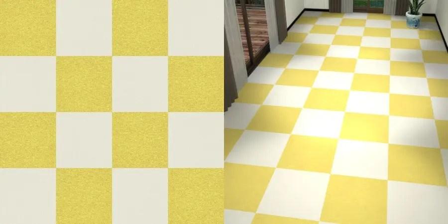 フリーデータ,2D,テクスチャー,texture,JPEG,タイルカーペット,tile,carpet,白色,しろ,ホワイト,white,黄色,イエロー,yellow,市松貼り,2色市松
