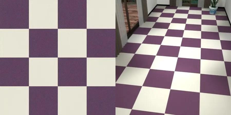 フリーデータ,2D,テクスチャー,texture,JPEG,タイルカーペット,tile,carpet,白色,しろ,ホワイト,white,紫色,パープル,purple,市松貼り,2色市松