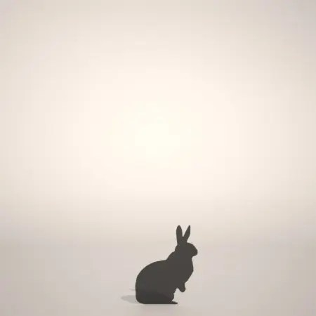 formZ 3D シルエット silhouette 動物 animal うさぎ ウサギ 兎 卯 rabbit