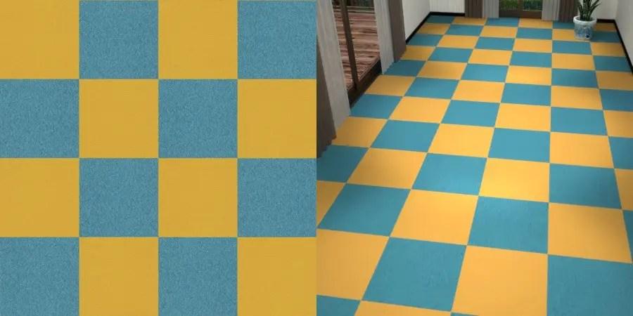 フリーデータ,2D,テクスチャー,texture,JPEG,タイルカーペット,tile,carpet,青,ブルー,blue,黄色,イエロー,yellow,市松張り,2色市松