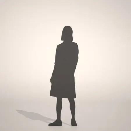 フリー素材 formZ 3D シルエット silhouette 女性 woman female lady スカート skirt