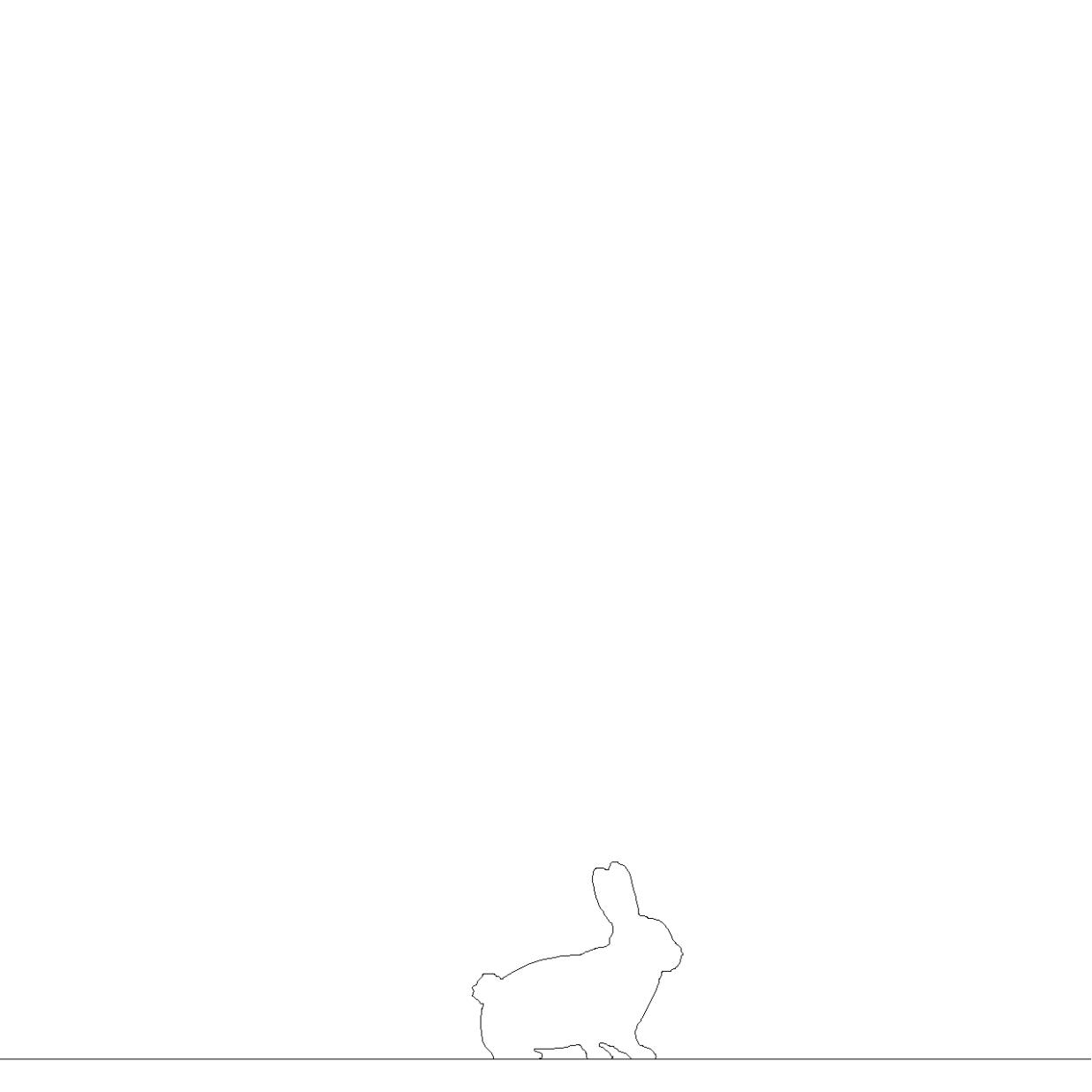 うさぎの2DCAD部品丨シルエット 動物 兎丨無料 商用可能 フリー素材 フリーデータ AUTOCAD DWG DXF
