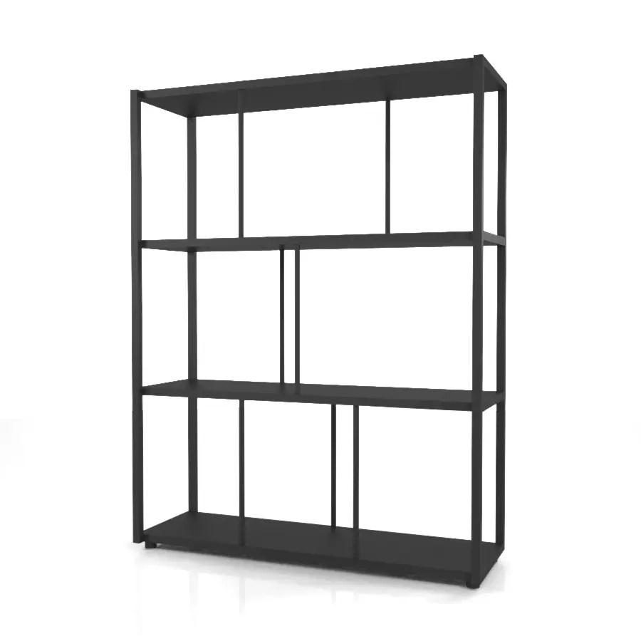 背の低い黒いラックの 3DCADデータ丨インテリア 家具 棚・ラック丨無料 商用可能 フリー素材 フリーデータ丨データ形式はformZ ・3ds・objファイルです