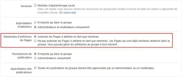 Facebook pages groupes