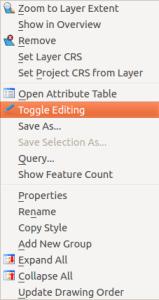 toogle editing in QGIS