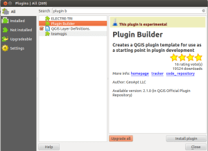 plugin builder in QGIS